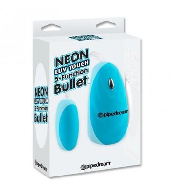 Neon Bala Vibradora 5 Funciones Luv Touch Azul