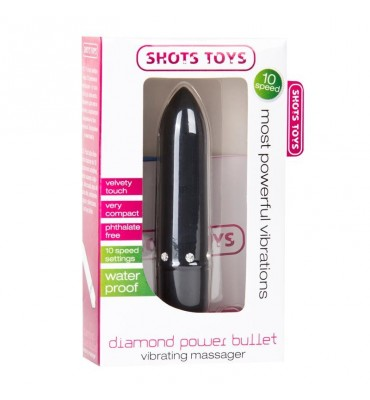 Shots Toys Diamond Power Bullet Negro