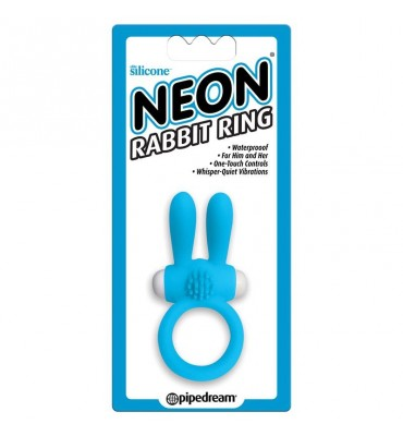 Neon Anillo Rabbit Color Azul