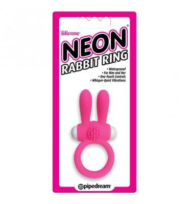 Neon Anillo Rabbit Color Rosa