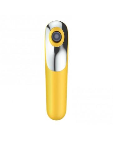 Dual Love Vibrador y Succionador con Aire Pulsado Amarillo
