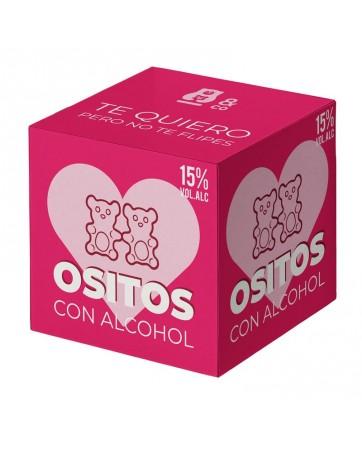 Ositos con Alcohol 15 Sabor Fresa y Ginebra 70 gr