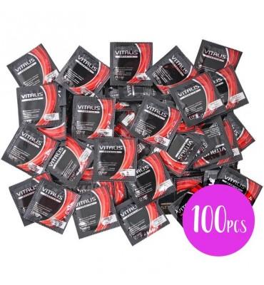 Vitalis Bolsa 100 Uds Fresa Color Rojo