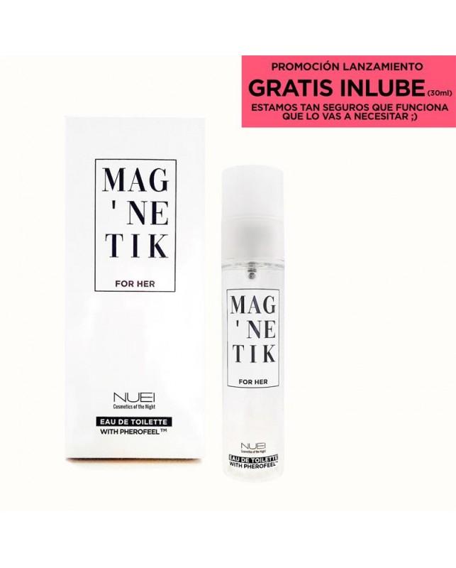 Perfume con Feromonas MAGNETIK for Her Lubricante 30 ml Gratis