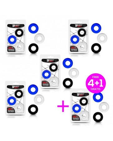 Pack 41 Pack 3 Anillos para el Pene 3 solores 16 cm