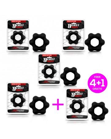 Pack 41 Anillo para el Pene Silicona Liquida 22 cm Negro