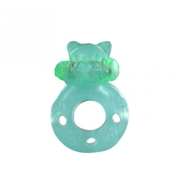 Anillo Vibrador Flash Teddy Verde Fluorescente