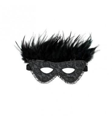 Máscara de Lujo con Plumas...