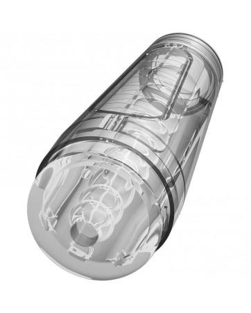 Masturbador Masculino Ultraskyn Optix Crystal Clear