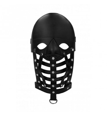 Mascara de Cuero Masculina Negro