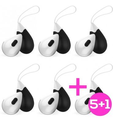 Pack 51 Huevo Vibrador Control Remoto USB Silicona Negro