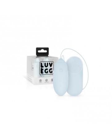 Huevo Vibrador Control Remoto Recargable Azul