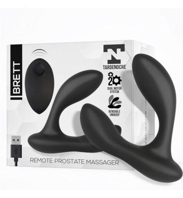 Brett Masajeador Prostatico Control Remoto USB Silicona Liquida