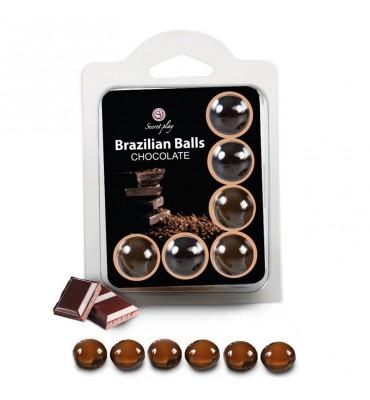 Brazilian Balls Set 6 Chocolate