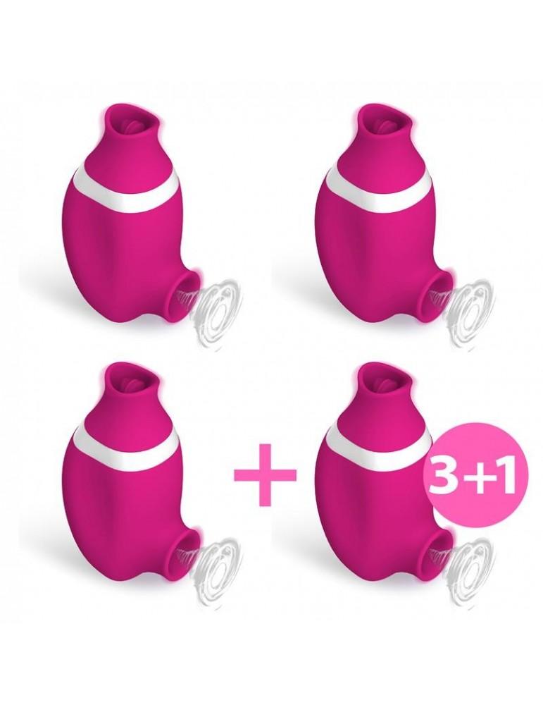 Pack 31 No Seven 2 En 1 Succionador de Clitoris y Lengua Estimuladora