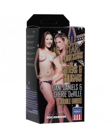 Masturbador Doble Vagina Dani Daniels y Ano Cherie DeVille