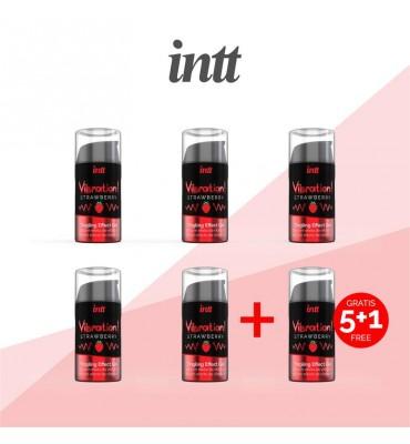 Pack 51 Vibrador liquido Efecto Calor Fresa 15 ml