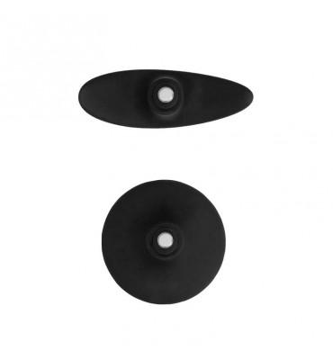 Kit Plug Anal y Ventosa Putiaguda Mediana Negro