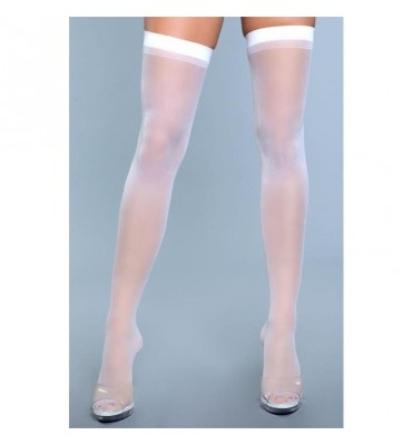 Medias Best Behavior Thigh Highs Blanco
