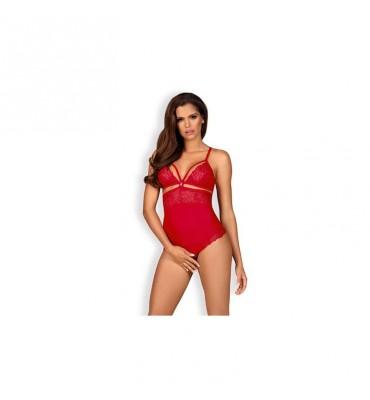 Bodysuit Entre Pierna Abierta Rojo