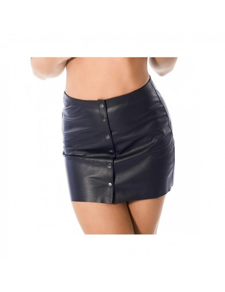 Mini Falda de Cuero