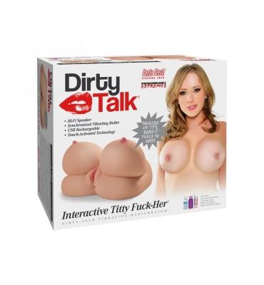 Masturbador Interactivo con Pechos Titty Fuck Her