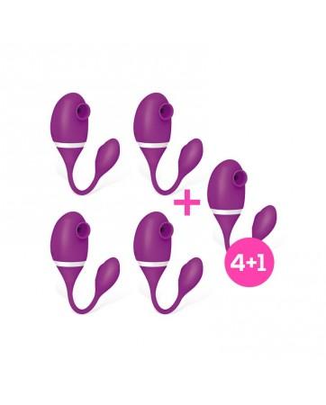 Pack 41 No Eight Succionador de Clitoris y Huevo Vibrador 2 en 1 Silicona USB