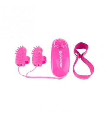 Neon Mini Vibradores para el Dedo Rosa