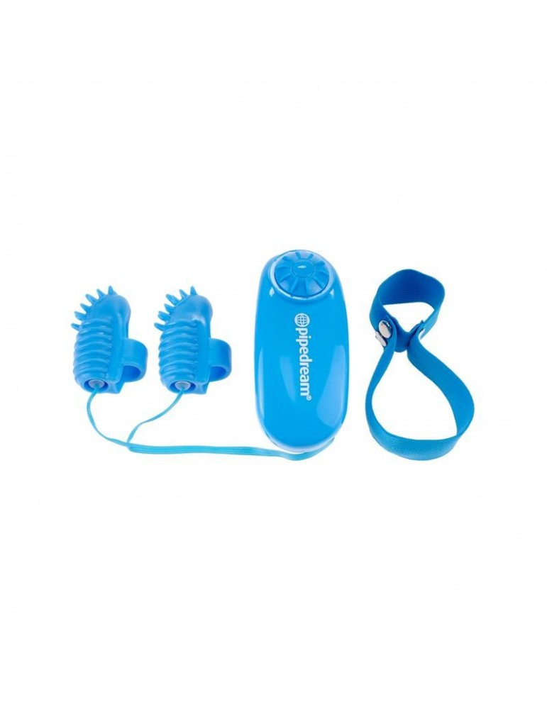 Neon Mini Vibrador para el Dedo Azul