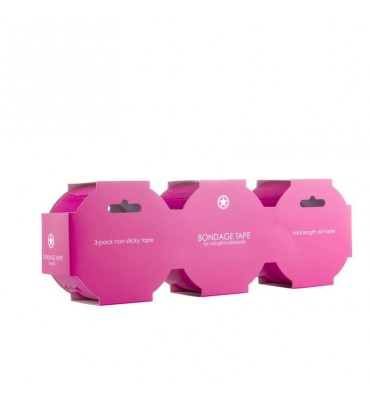 Shots Ouch Pack de 3 Cinta de Bondage Color Rosa