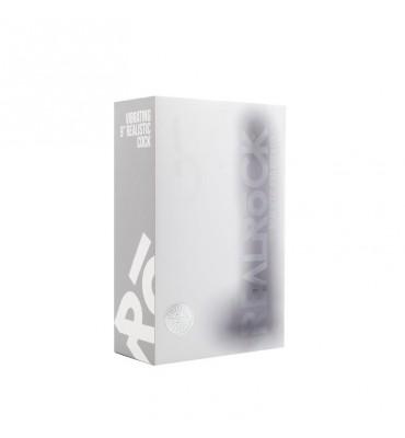 Pene Realistico con Vibracion 2286cm con Escroto Color Transparente