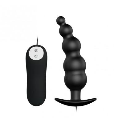 Vibrador Anal Burbujas Negro con Control Remoto