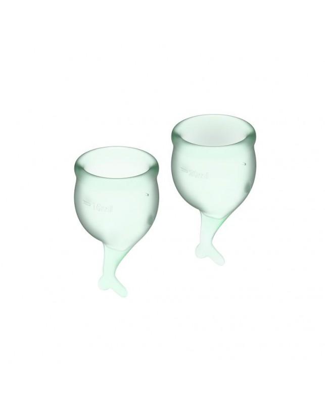Copas Menstruales Feel Secure Light Green Pack de 2