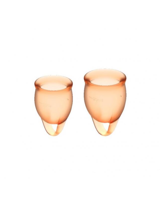 Copas Menstruales Feel Confident Orange Pack de 2