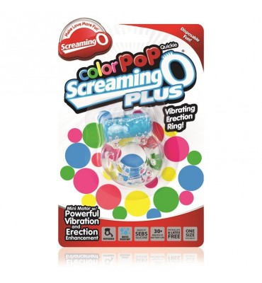 Anillo Vibrador ColorPoP Plus Azul