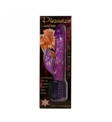 Baile Vibrador Pleasurizer Color Purpura 18 cm