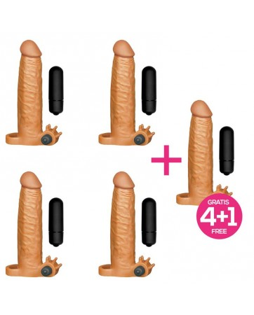 Pack 41 X Tender Funda Realista para el Pene con Bala Vibradora