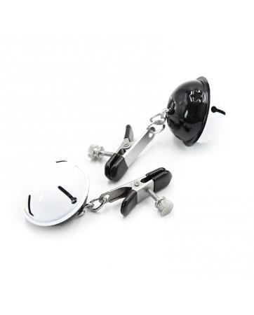 Pinzas para Pezones con Cascabeles Blanco Negro