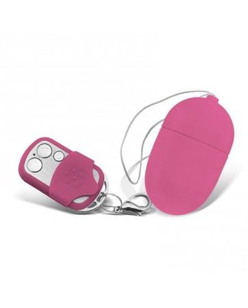 Huevo Vibrador con Control Remoto Tamano Mediano Rosa