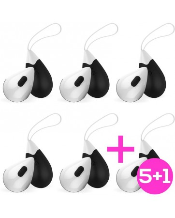 Pack 51 Wireless Vibrating Egg Drops Black