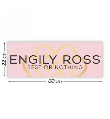 Cartel Promocional Engily Ross 60 cm x 22 cm