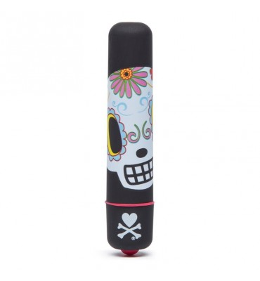 tokidoki Single Speed Mini Vibrator Black Dia de los muertos