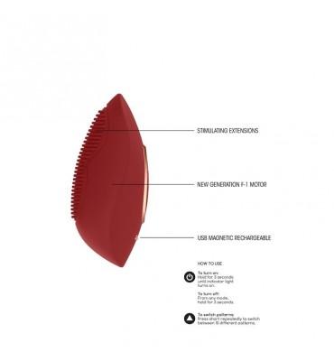 Ouch Deluxe Arnes Con Dildo Silicona Suave Lila 25.5cm