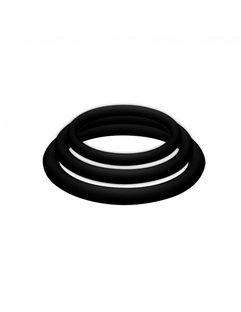 POTENZplus Pack de 3 Grande Mediano y Pequeno Color Negro