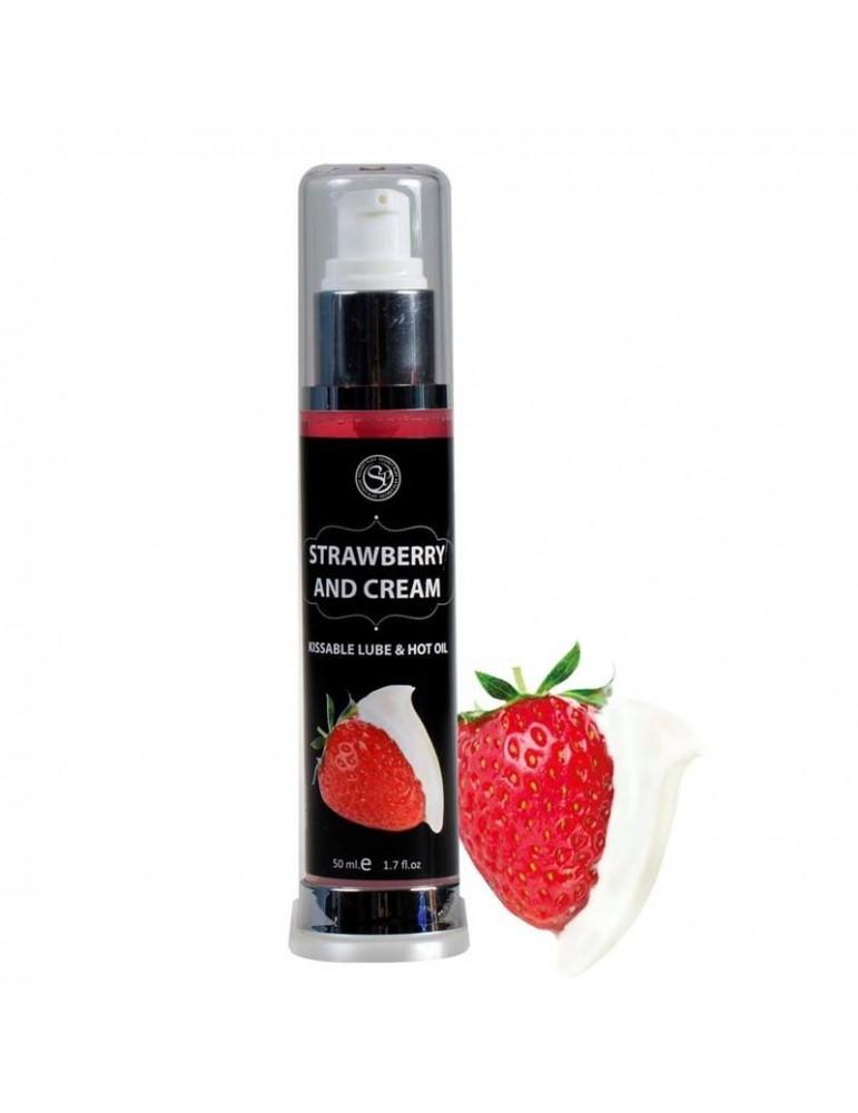 Secret Play Lubricante Efecto Calor Fresas con Nata 50 ml