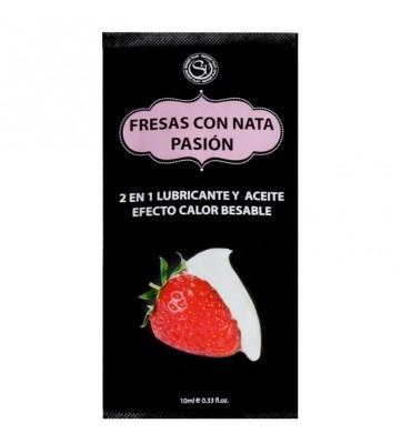 Secret Play Pack 12 Monodosis Lubricante Fresas con Nata