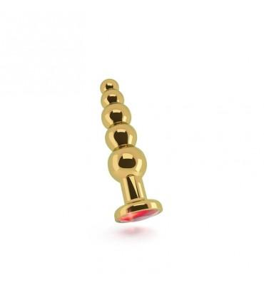 Shots Rich Plug Anal Red Sapphire 125 cm Dorado