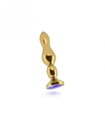 Shots Rich Plug Anal Purple Sapphire 12 cm Dorado