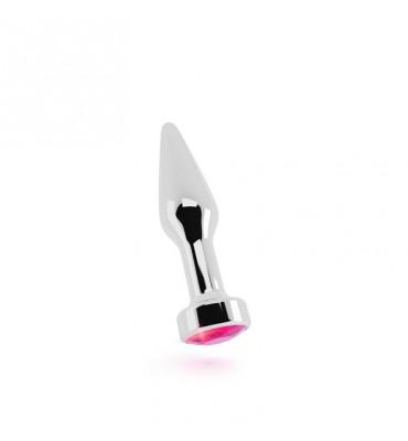 Shots Rich Plug Anal Pink Sapphire 10 cm Plateado