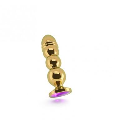 Shots Rich Plug Anal Purple Sapphire 125 cm Dorado